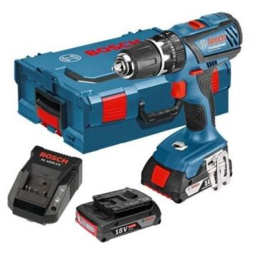 Bosch GSB182LI plus 18v combi cordless drill 2x2ah li-on batts L box GSB-18-2-LI
