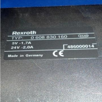 REXROTH Germany Russia SE301 TIGHTENING CONTROLLER 0 608 830 160 *kjs*