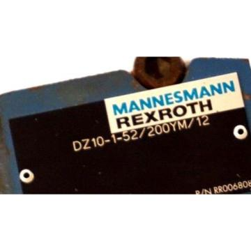 MANNESMANN France Russia REXROTH DZ10-1-52/200YM/12 PRESSURE REGULATOR RR006808