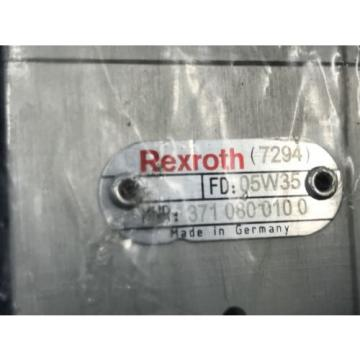 NEW France Egypt REXROTH 371 080 010 0 DIRECTIONAL CONTROL VALVE 3710800100 (U3)