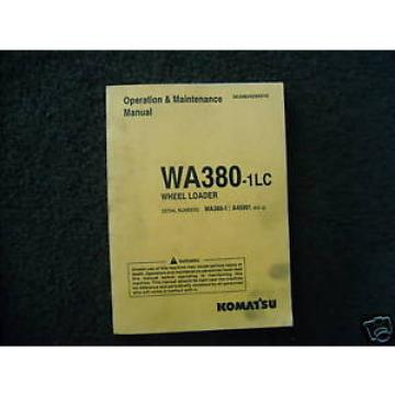 Komatsu WA380-1LC Operation & Maintenance manual