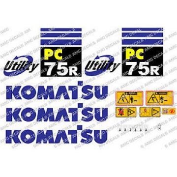 KOMATSU PC75R DIGGER DECAL STICKER SET