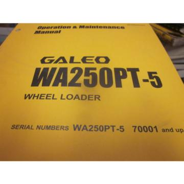 Komatsu WA250-3PT Tool Carrier Operation & Maintenance Manual 2004