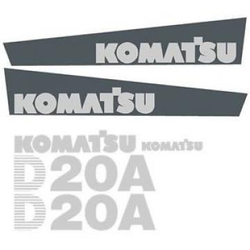 Brand New Komatsu Dozer D20A Decal Set with Stripe