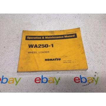 Komatsu WA250-1 Operation & Maintenance MANUAL WHEEL LOADER PSEAMU4180102