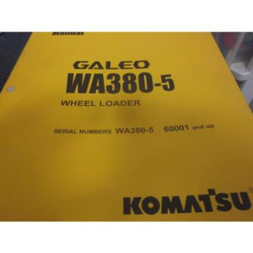 Komatsu WA380-5 Wheel Loader Operation & Maintenance Manual Year 2004