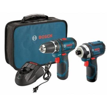 Drill Driver and Impact 12 Volt Lithium-Ion Cordless Electric 2 Tool Combo Kit