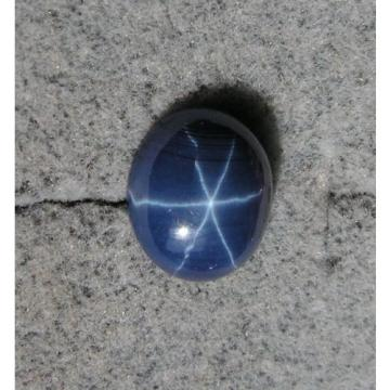 MEN'S 12X10MM 5+CT LINDE LINDY CRNFLWR BLUE STAR SAPPHIRE CREATED 2NDS TIE TACK