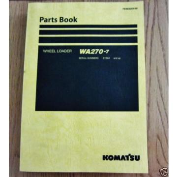 KOMATSU WHEEL LOADER WA270-7 PARTS BOOK SERIAL NUMB 81344 AND UP