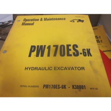 Komatsu PW170ES-6K Hydraulic Excavator Operation & Maintenance Manual