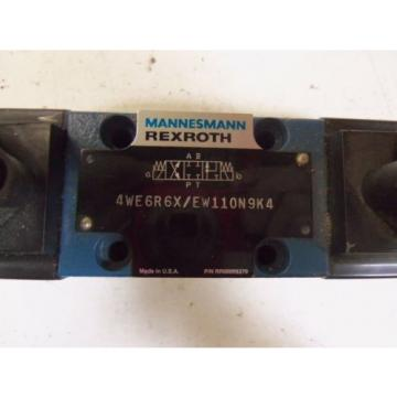 REXROTH India France 4WE6R6X/EW110N9K4  *USED*