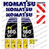 KOMATSU PC160LC -8 DIGGER DECAL STICKER SET