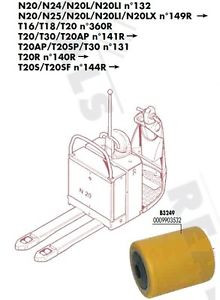 GALET 85 105 110 20 mm TRANSPALETTE FENWICK LINDE N20L N20LI N°132 PIECES