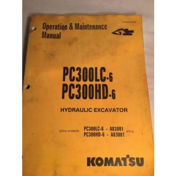 Komatsu PC300LC-6, PC300HD-6 HydraulicExcavator Operation & Maintenance Manual