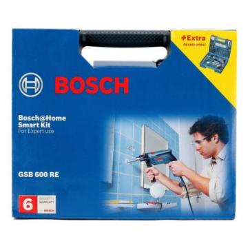 Brand New Bosch GSB 600 RE Smart Drill Kit - 13mm 600w | Free Shipping
