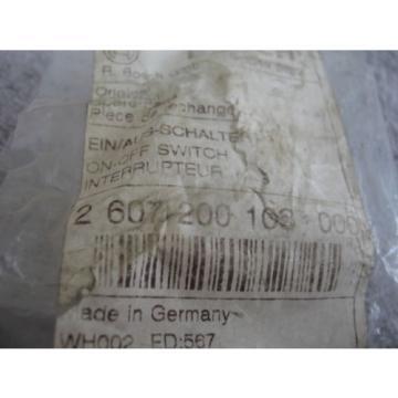 Bosch 2607200103 New Genuine OEM Switch