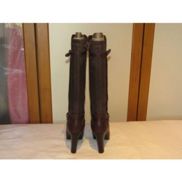 UGG® AUSTRALIA LINDE BROWN LEATHER KNEE HIGH BOOTS UK 5.5 EUR 38 USA 7 RRP £245