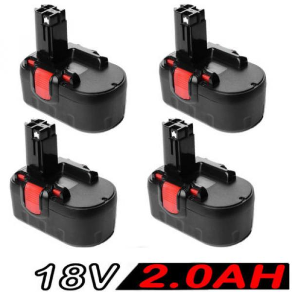 4x 18V 2.0AH Battery For Bosch BAT025 BAT160 2607335536 2607335278 PSR 18VE #1 image